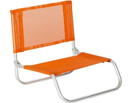 Siege plage en aluminium Basic (Orange)