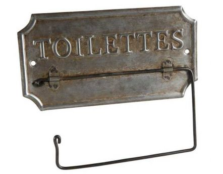 Support papier toilette ancien en zinc