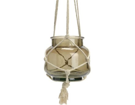 Suspension Macrame taupe