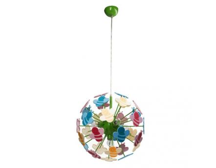 Suspension boule abeille multicolore