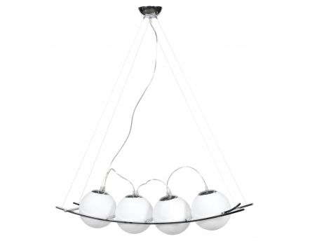 Suspension design Uranus verre blanc