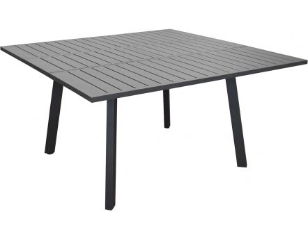 Table en aluminium avec allonge Barcelona 145 cm (Gris)