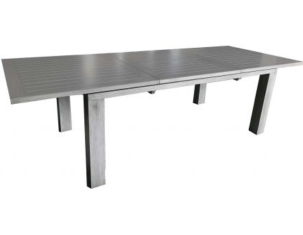 Table en aluminium avec allonge Elisa 240 cm (Ice)