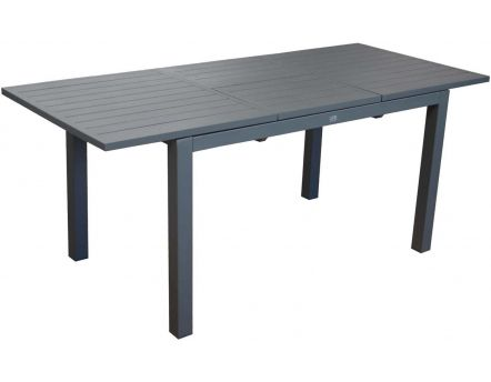 Table en aluminium avec allonge Trieste 180 cm (Gris)