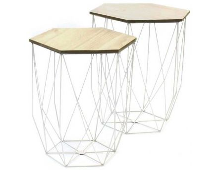 Table d'appoint filaire (Lot de 2)