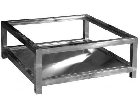 table basse en aluminium et verre manathan. Black Bedroom Furniture Sets. Home Design Ideas