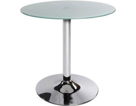 table basse ronde vinyl verre transparent. Black Bedroom Furniture Sets. Home Design Ideas