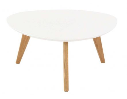 Table basse ronde plateau blanc Pixy