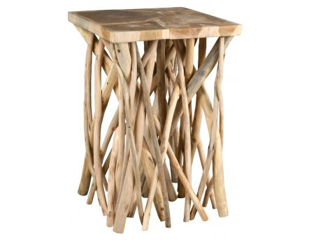 Table basse teck pied branchage Puzzle