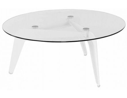 Table basse en verre Calder 96 cm