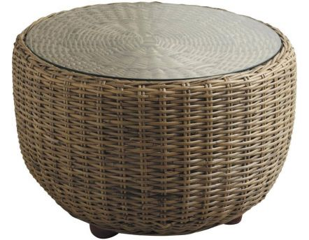 Table boule en poelet gris et verre Pipelette