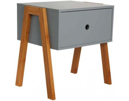 Table de chevet scandinave empilable (Gris)