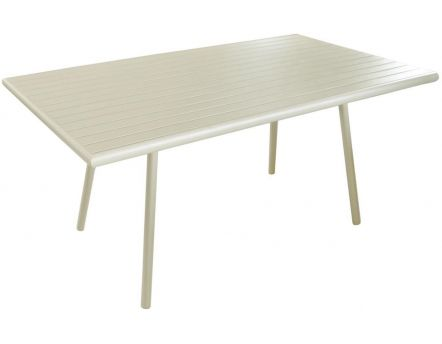 Table de jardin Menu 160cm (Nacre)