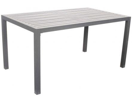 Table de jardin en aluminium Sarana 150 cm (Gris plata)