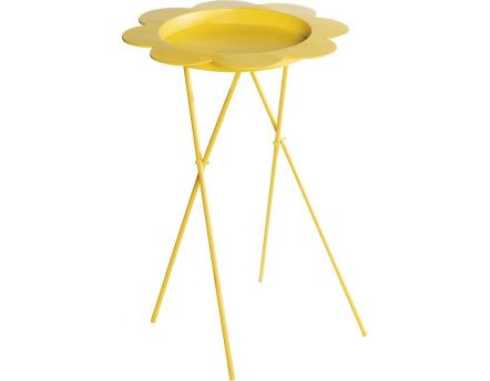 Table à plante pliable Flower (Jaune)