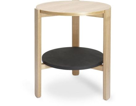 Table ronde en bois Hub (Noir/Naturel)