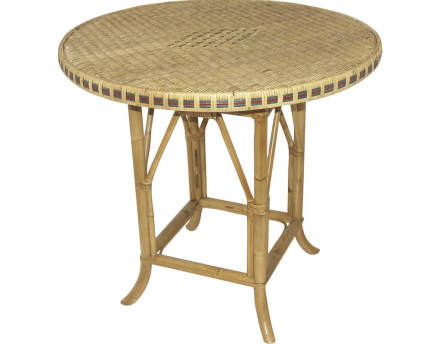 Table rotin 80cm Surabaya