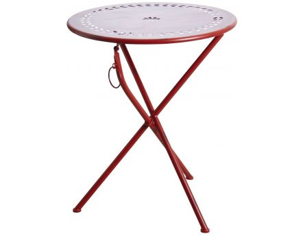 Table de terrasse pliante ronde (Rouge)