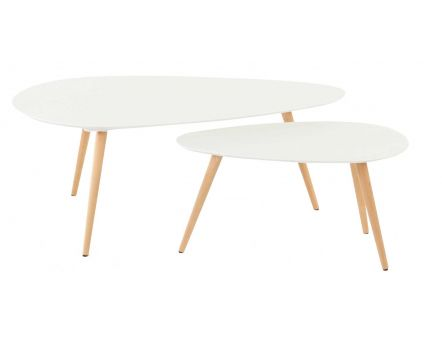 Tables basses gigognes Pixy (Blanc)