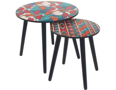 Tables gigognes plateau Wax (Lot de 2)