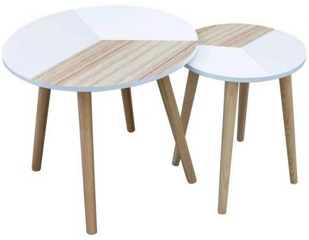 Tables gigognes tricolore (Lot de 2)