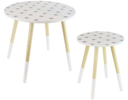 Tables gigones motif Etoiles (Lot de 2)