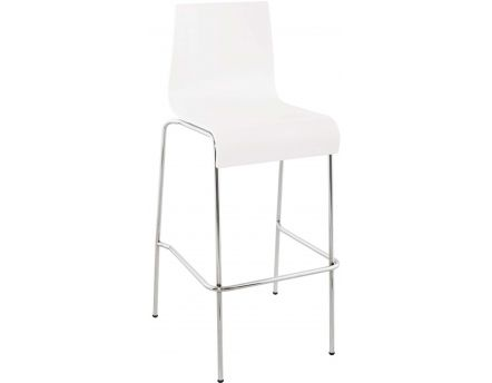 Tabouret de bar empilable Cobe (Blanc)
