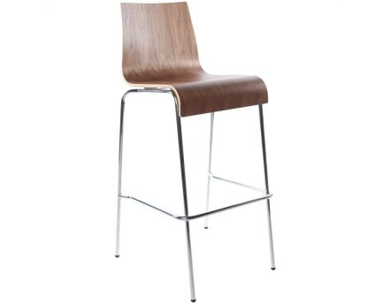 Tabouret de bar empilable Cobe (Noyer)