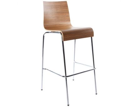 Tabouret de bar empilable Cobe (Zebrano)