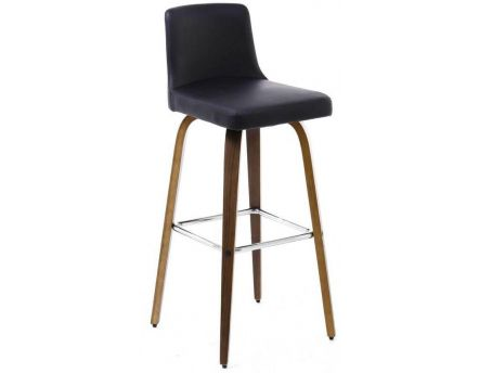 tabouret de bar walnut