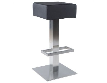 Tabouret de bar similicuir Noble (Noir)