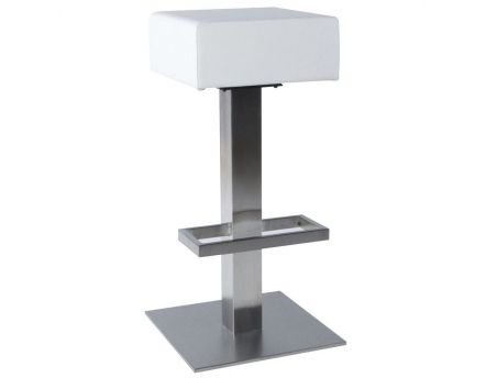 Tabouret de bar similicuir Noble (Blanc)