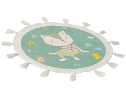 Tapis enfant coton Thomas  petit chat