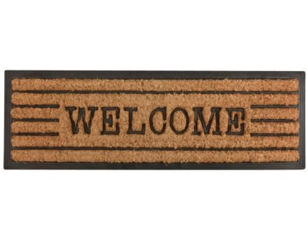 Tapis en fibres de coco inscription Welcome