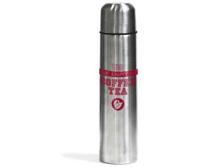 Thermos transport double paroi 1 litre (Rouge)
