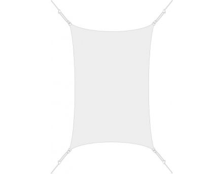 Voile d'ombrage rectangle 3 x 4,5m (Blanc)
