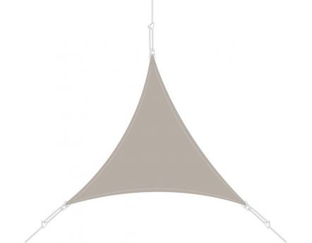 Voile d'ombrage triangle 3 x 3 x 3m (Taupe)