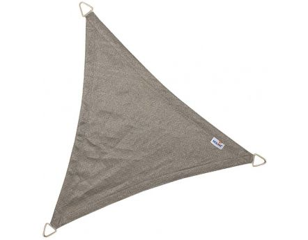 Voile d'ombrage triangulaire Coolfit anthracite (4 x 4 x 5,7 m)