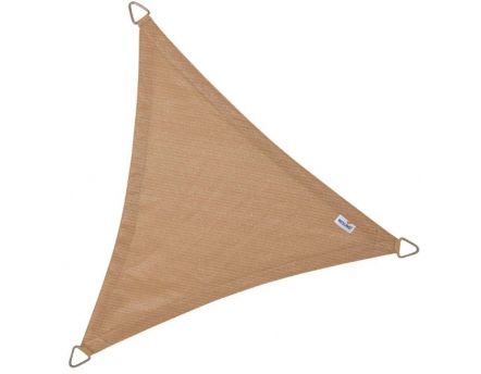 Voile d'ombrage triangulaire Coolfit sable (5 x 5 x 5 m)