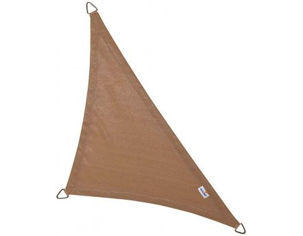 Voile d'ombrage triangulaire Coolfit sable (4 x 4 x 5,7 m)