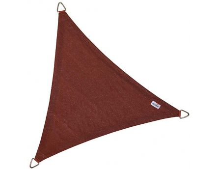 Voile d'ombrage triangulaire Coolfit terracotta (3,6 x 3,6 x 3,6 m)
