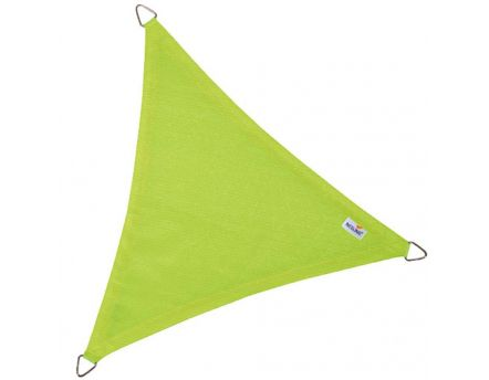 Voile d'ombrage triangulaire Coolfit vert lime (3,6 x 3,6 x 3,6 m)