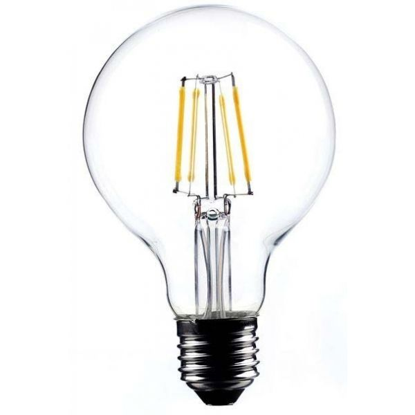Ampoule ronde LED droit transparent 12 cm