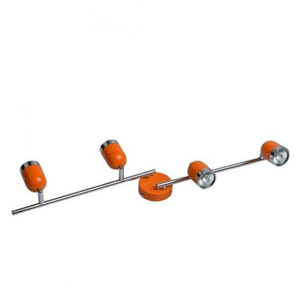 Applique Murale 4 Spots Orange