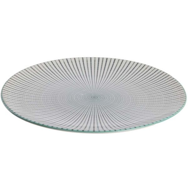Assiette plate en porcelaine My Little Market 26.5 cm (Lot de 2) - 10,90