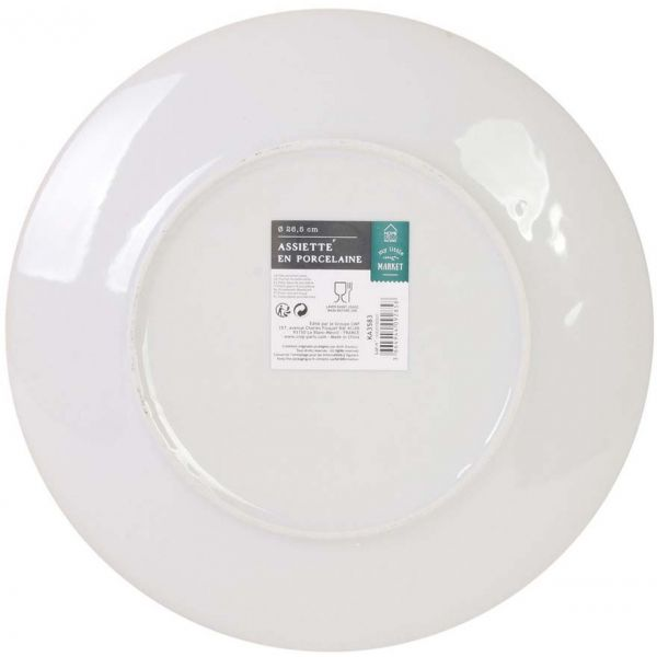 Assiette plate en porcelaine My Little Market 26.5 cm (Lot de 2) - 5