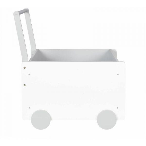 Bac de rangement chariot pour enfant (blanc - jouets)