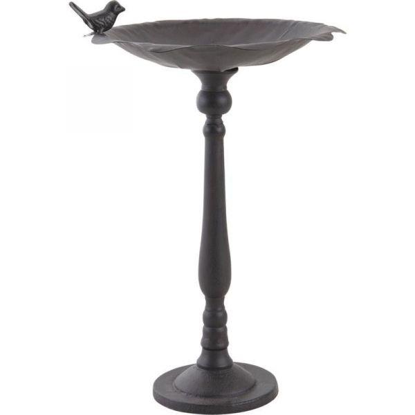 bain oiseaux sur pied en fonte. Black Bedroom Furniture Sets. Home Design Ideas