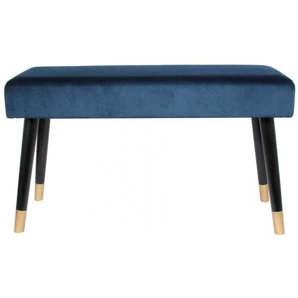 Banc effet velours pieds bicolores - THE HOME DECO FACTORY
