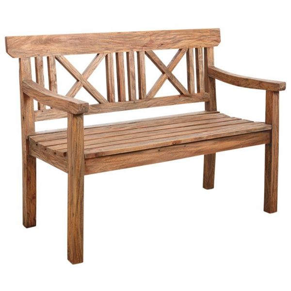 Banc en bois naturel antique